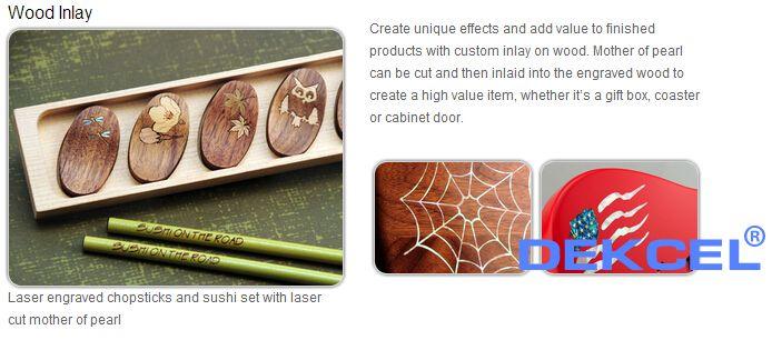 laser wood inlay