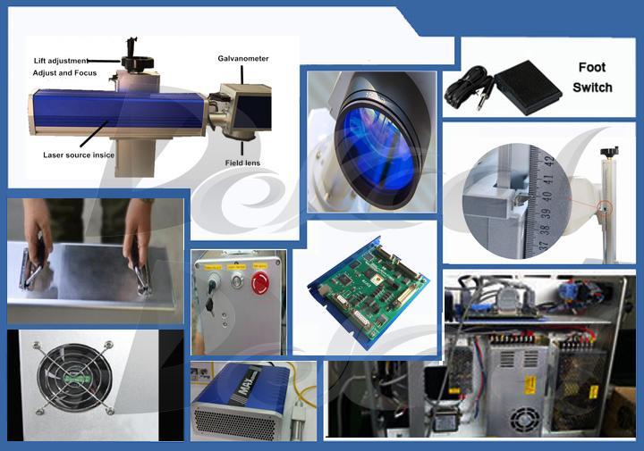 portable fiber laser marking machine parts