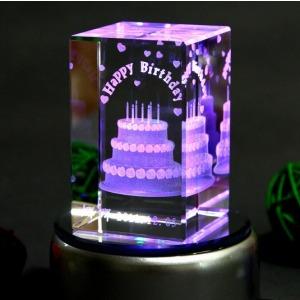 3D green laser marking machine on crystal