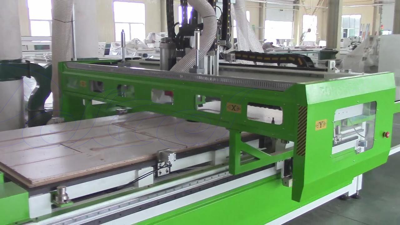 cnc furniture production line cutting and drilling