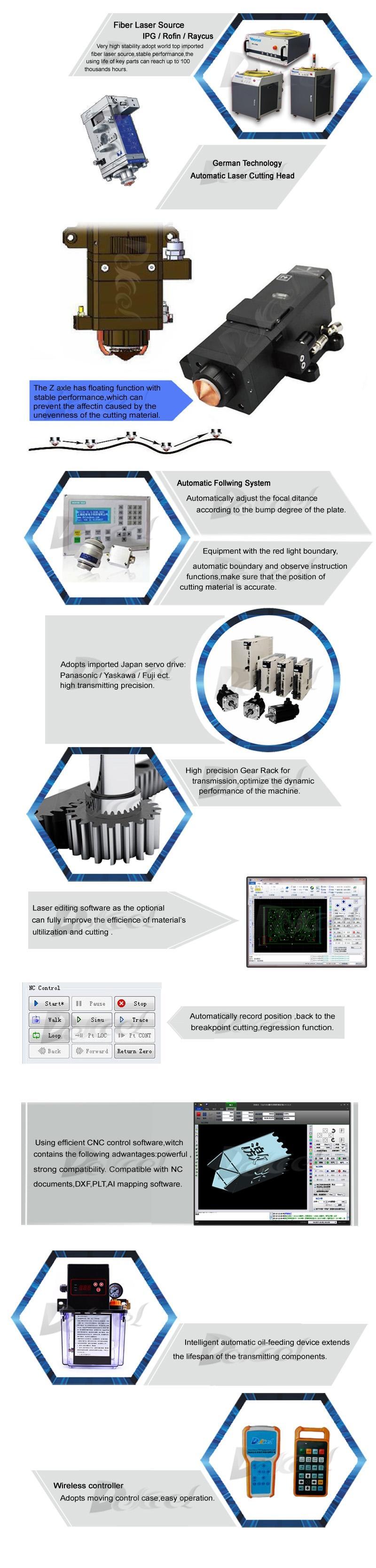 fiber metal steel laser cutting machine details