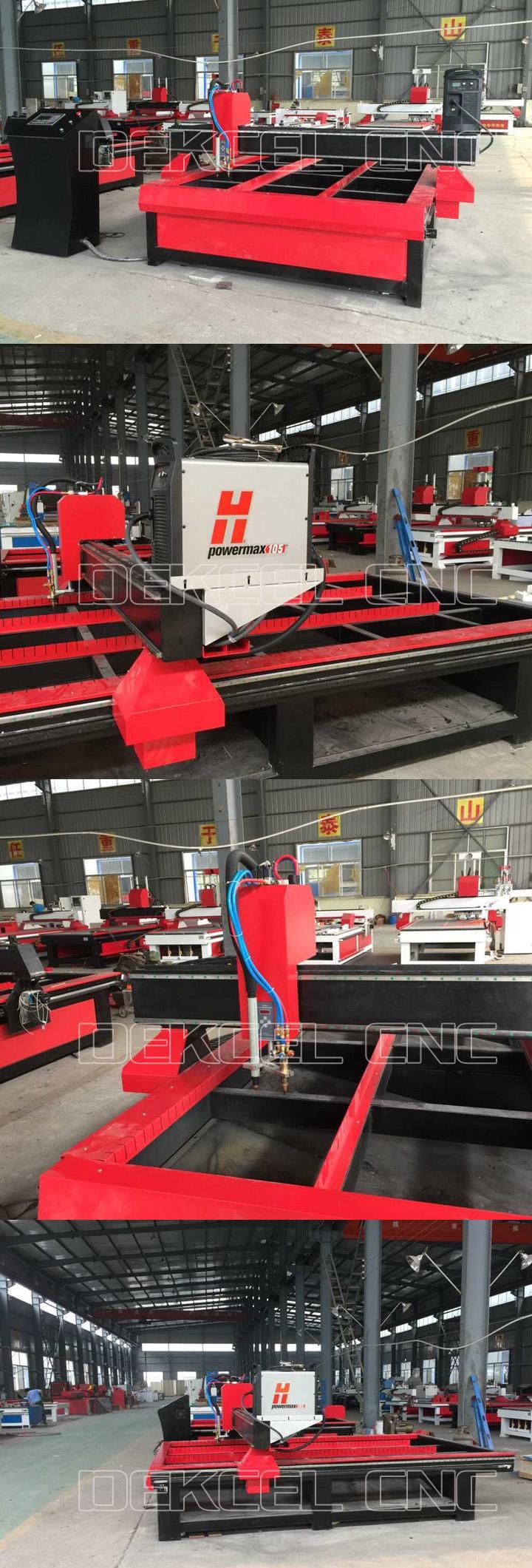 dekcel cnc plasma metal cutters machine for sale