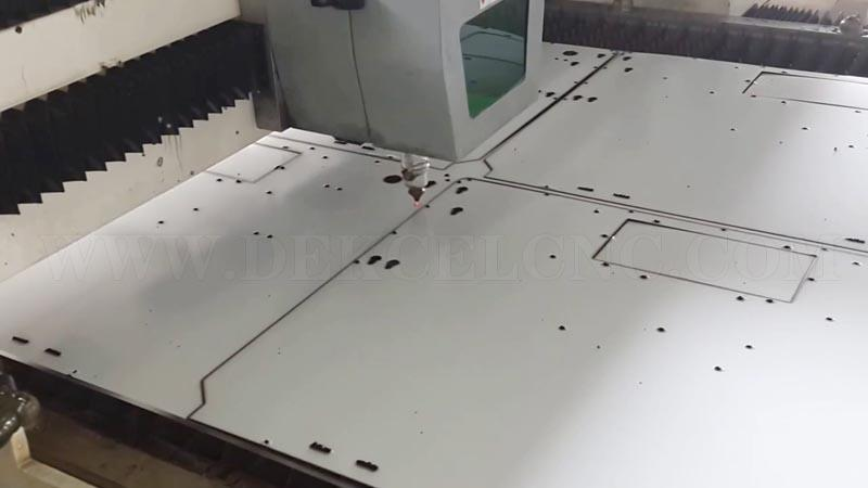 dekcel 500w fiber metal laser cutting stainless steel with protection film