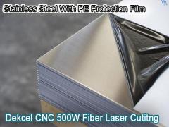 Stainless Steel PE Protection Film cutting by 500w Fiber Laser Cutting  Machine