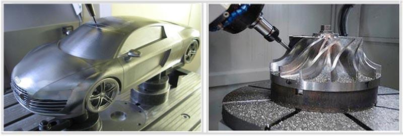 5 axis aluminium mold engraving cnc router sample