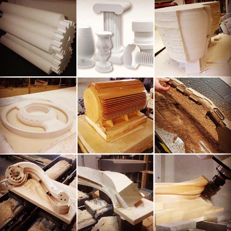 4 and 5 axis mold foam wood  aluminium cnc engraving router samples