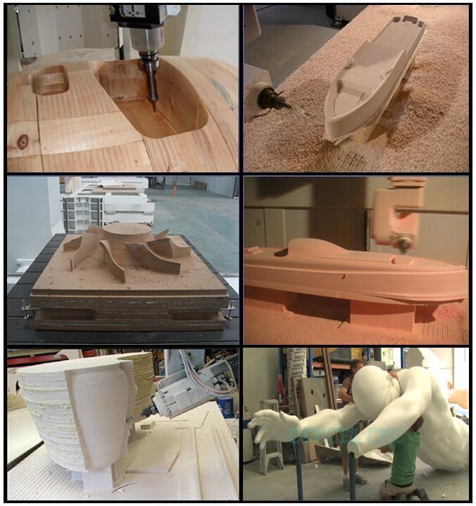 dekcel cnc 5 axis aluminum wood mold engraving sample