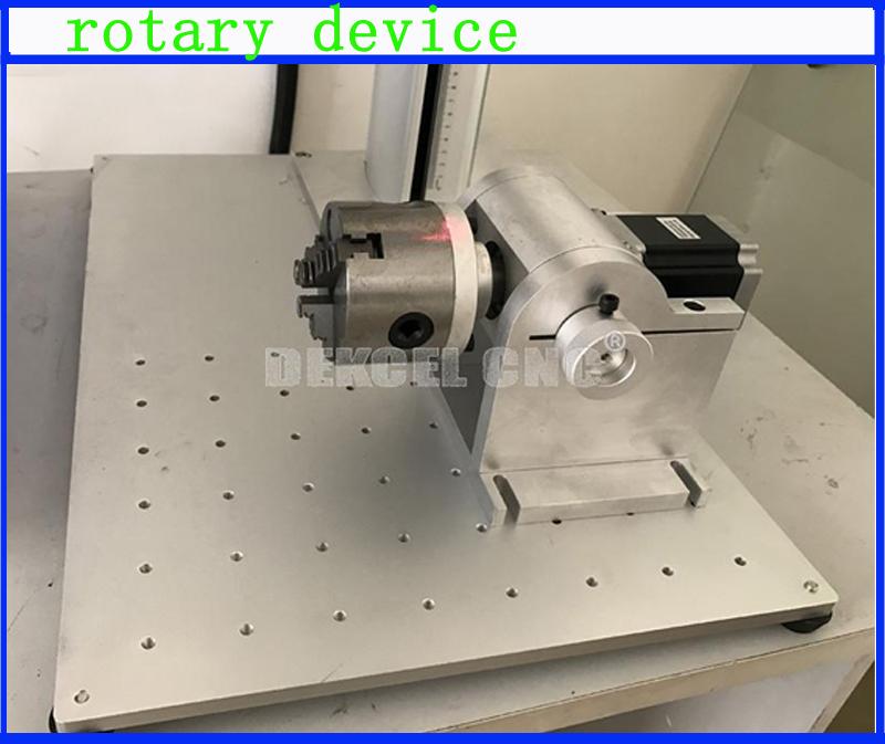 20w mopa fiber laser marker rotary device