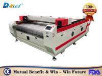 DEK-1625 80W cnc laser nylon rubber cloth cutter machine with automatic feeding