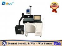 Fine co2 laser nonmetal marker machine for leather plastic discount price