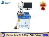 30W cnc metal fiber laser marking machine for hardware with foot switch